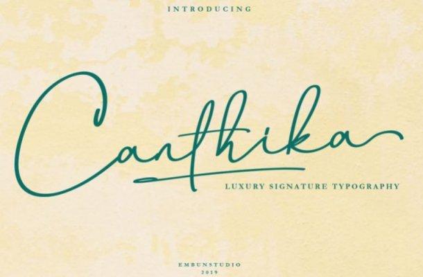 Canthika Script Font