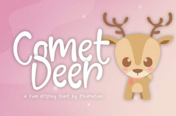 Comet Deer Display Font