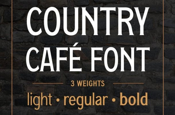 Country Cafe Caps Font