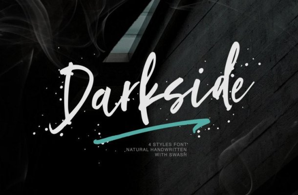 Darkside Brush Font
