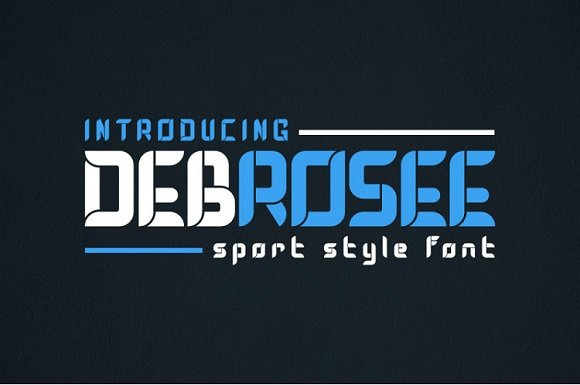 DEBROSEE Display Font