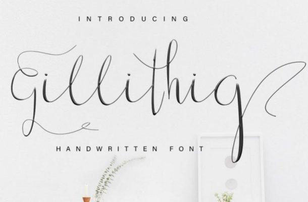 Gillithig Calligraphy Font