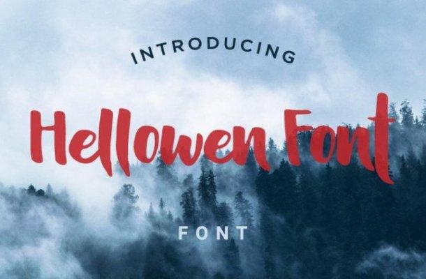 Hellowen Script Font