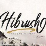 Hibrush Handbrush Font