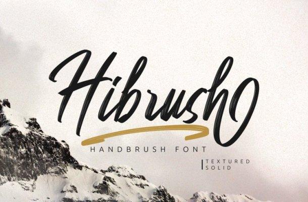 Hibrush Handbrush Font