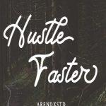 Hustle Faster Script Font