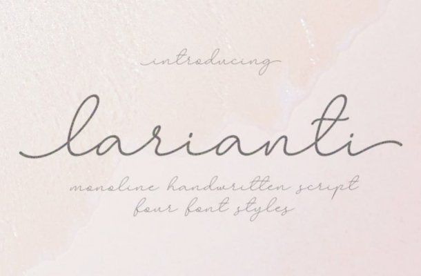 Larianti Monoline Handwritten Font
