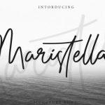 Maristella Handwritten Font