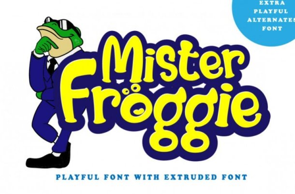 Mister Froggie Script Font