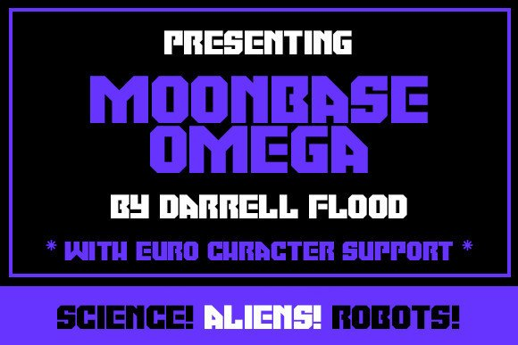 Moonbase Omega Display Font