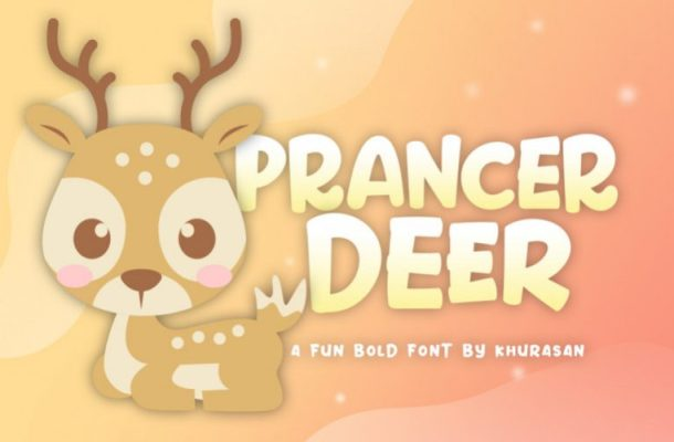 Prancer Deer Display Font