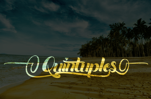 Quintuples Font