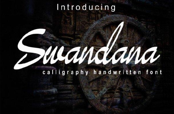 Swandana Brush Font