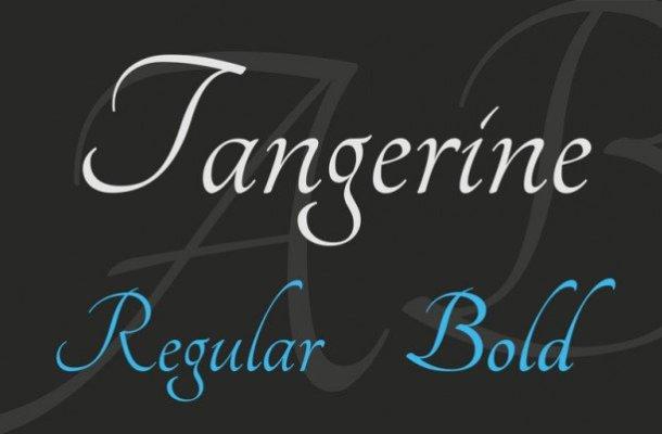 Tangerine Calligraphy Font