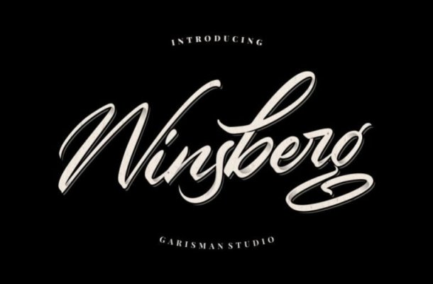 Winsberg Calligraphy Font