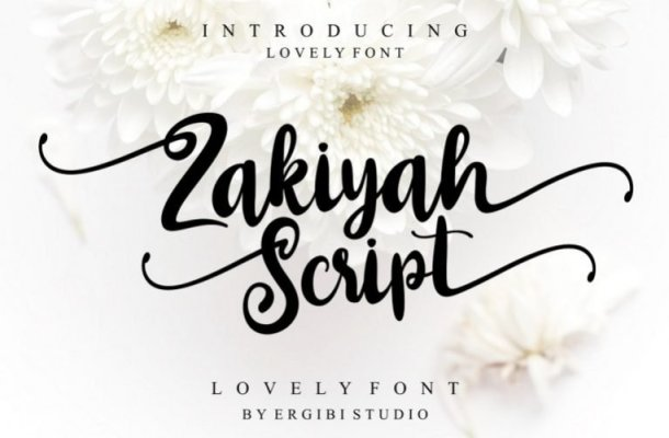 Zakiyah Script Font