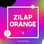 Zilap Orange Sans Serif Font