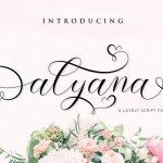 Alyana Script Font