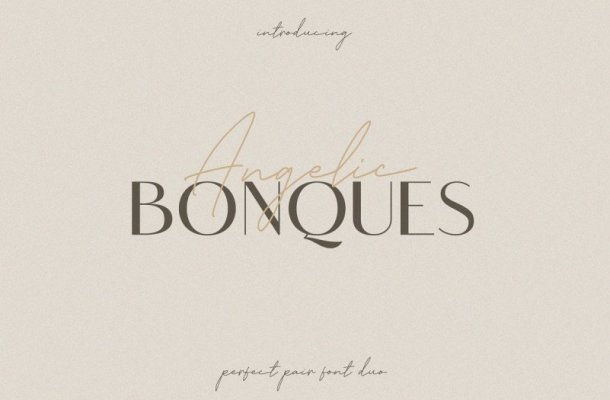 Angelic Bonques Font Duo