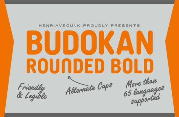 Budokan Rounded Font
