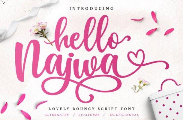 Hello Najwa Script Font