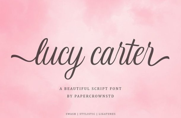 Lucy Carter Calligraphy Font