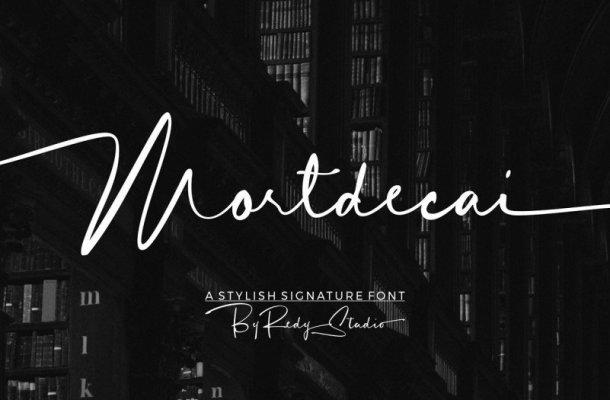 Mortdecai Signature Font