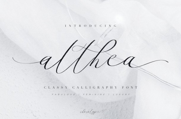Althea Calligraphy Font