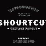 Shourtcut Display Font