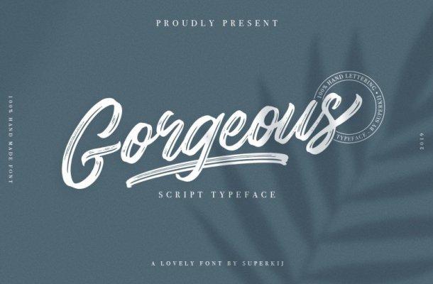 Gorgeous – Script Typeface