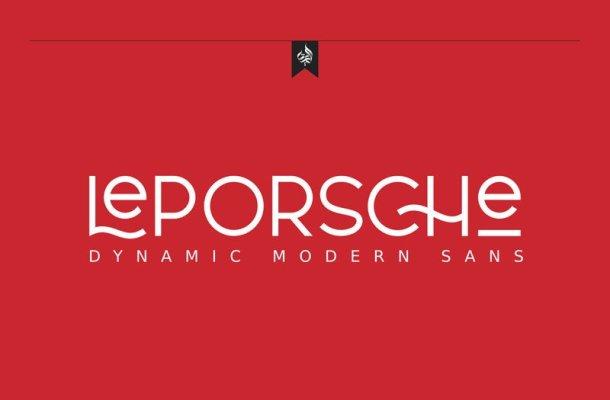 AL LePorsche Retro Font Free