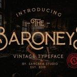 Baroneys Vintage Font Free
