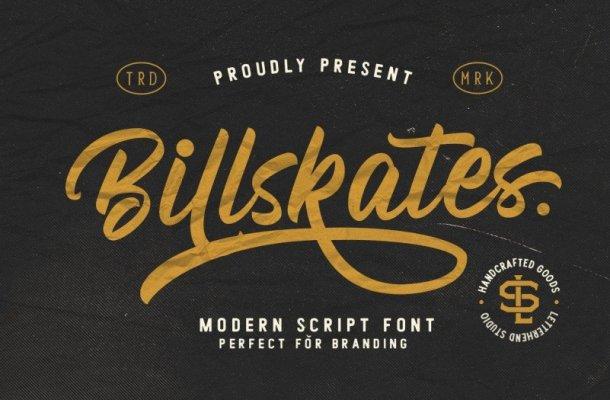 Billskates Script Font Free