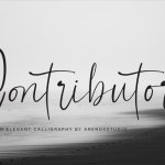 Contributor Calligraphy Font Free
