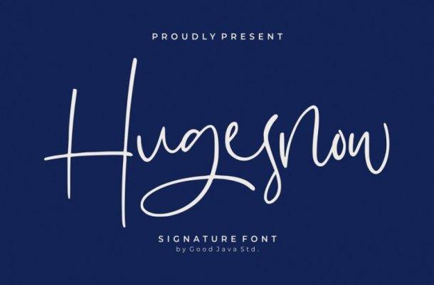 Hugesnow Signature Font Free
