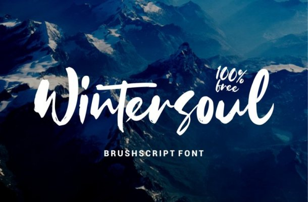 Wintersoul Brush Font