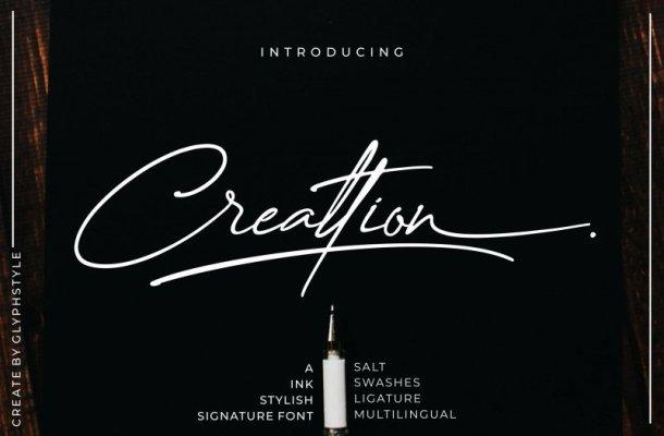 Creattion – Signature Font