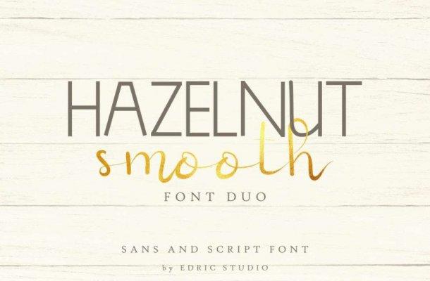 Hazelnut Smooth Font Duo
