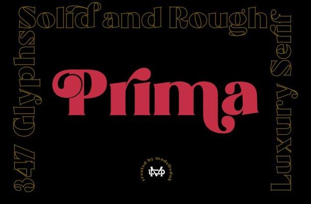 Prima – Luxury Font