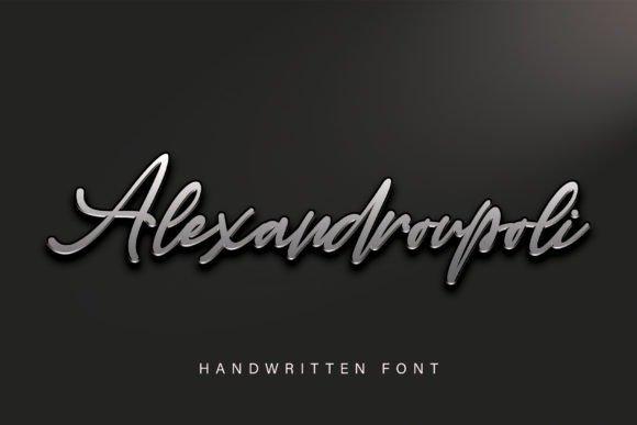 Alexandroupoli Handwritten Font