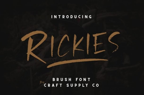 Rickies Brush Font