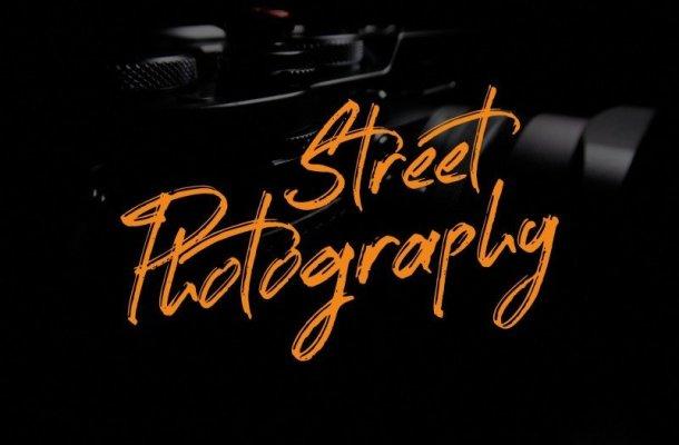 Street Photography Brush Font
