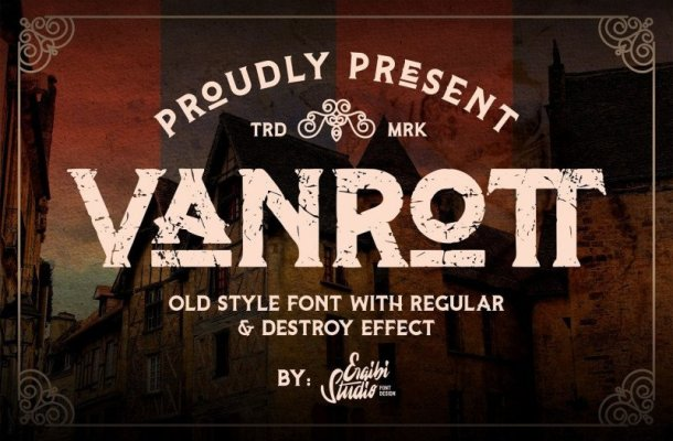 Vanrott Display Font