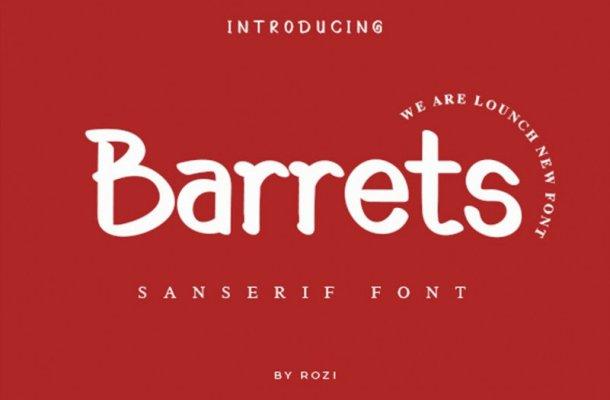 Barrets Font Free