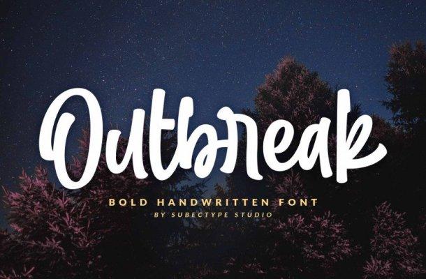 Outbreak / Bold Handwritten Font