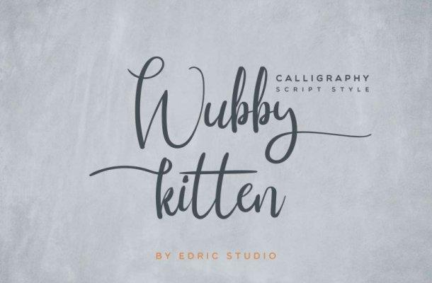 Wubby Kitten Calligraphy Font