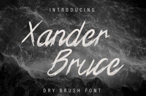 Xander Bruce Brush Font