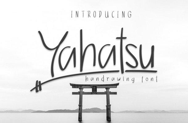 Yahatsu Handwritten Font