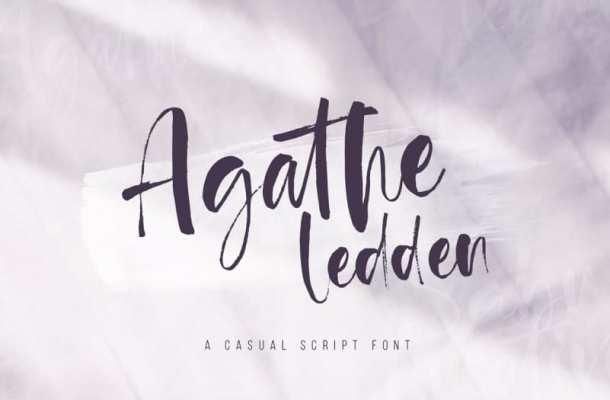 Agathe Ledden Script Font