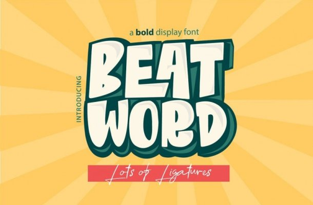 Beat Word Display Font